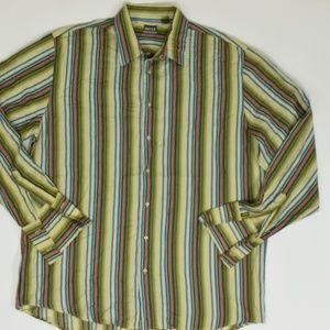 Enyce  Big & Tall 3XL Green   Button Down Cotton s